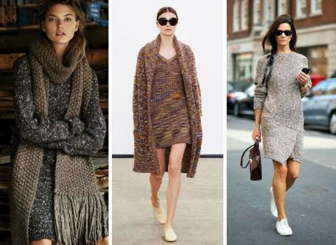 Вязаные платья: с чем носить и как сочетать
