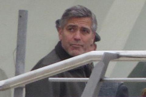 """Джордж Клуни на съемках фильма """"Земля завтрашнего дня"""" в Испании"""