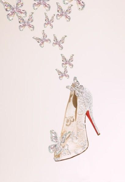 Кристиан Лабутен представил модель хрустальных туфелек Золушки