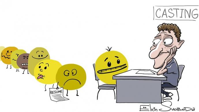 Новым смайликам Facebook посвятили карикатуру (1)