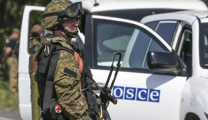 Гаубицы и танки боевиков выведены из места стоянки - отчет ОБСЕ