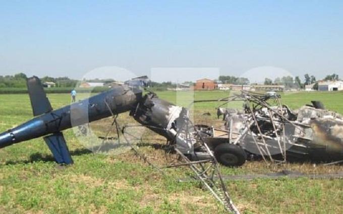 В Україні впав гвинтокрил: з'явилися фото з місця катастрофи