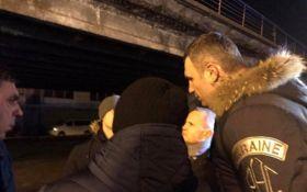 Кличко с места аварии на Шулявском путепроводе: до утра должны быть выводы экспертизы о состоянии моста