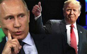 Трампа тримали вшістьох: мережу насмішило фото розмови з Путіним
