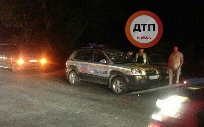 У Києві одні поліцейські влетіли в інших: з'явилися фото аварії