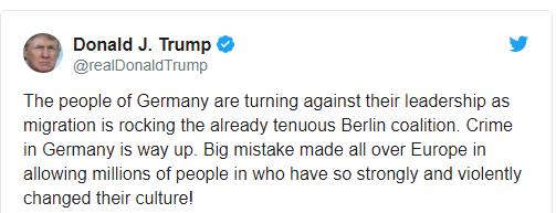 Это огромная ошибка: Трамп раскритиковал миграционную политику Меркель (1)