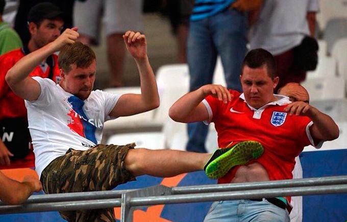 Российские варвары устроили побоище на стадионе Евро-2016: появилось шокирующее видео