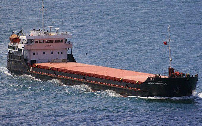 Затонувший вЧерном море сухогруз раскололся надве части. Спасен 1 человек