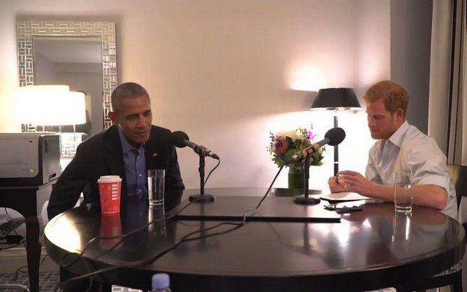 Принц Гаррі взяв інтерв'ю у Обами: з'явилося відео