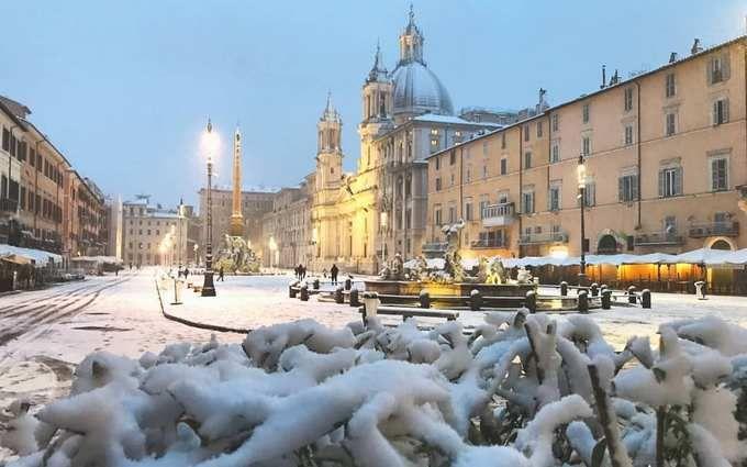 Италию накрыл снег и аномальные морозы: опубликованы зрелищные фото