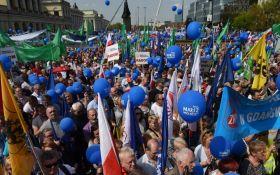 У Польщі десятки тисяч людей вийшли на протести: з'явилися фото і відео