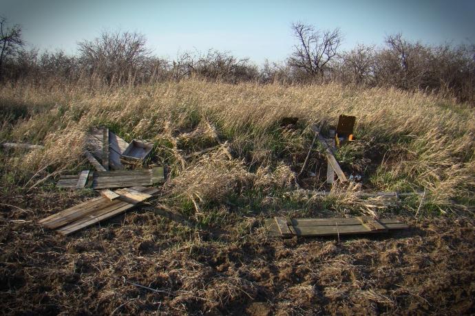 Памятники археологии на Донбассе стали стрельбищами и минными полями – рассказ очевидца (1)