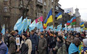 Марш против оккупации Крыма: появились фото из Киева