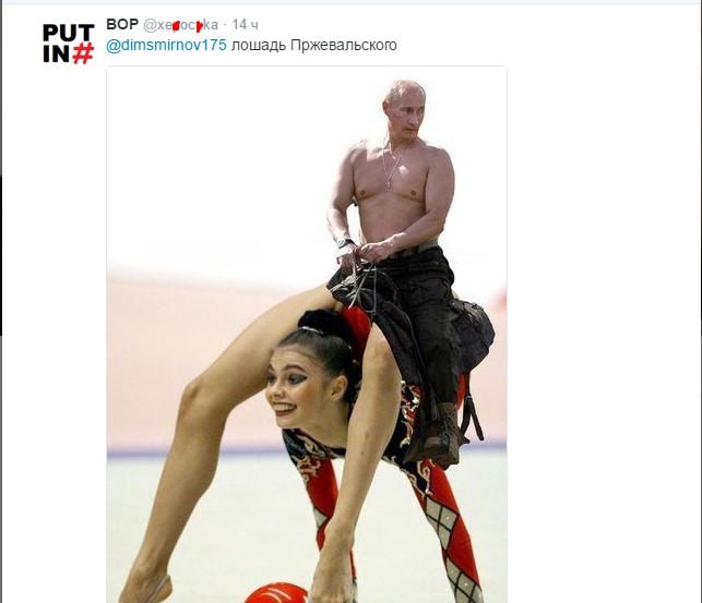 Путін зібрався до коней: в мережі злобно жартують (3)
