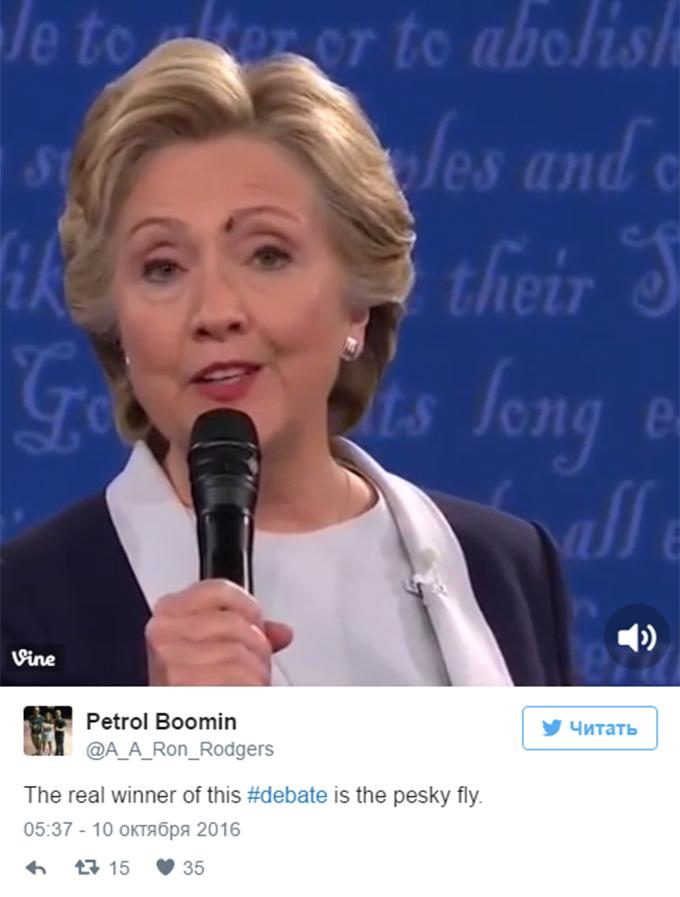 """""""Третій учасник"""" дебатів Клінтон і Трампа став хітом мережі: з'явилося відео (1)"""