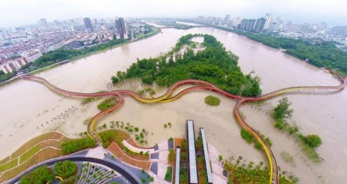 Yanweizhou Wetland Park - парк отдыха на болоте (фото)