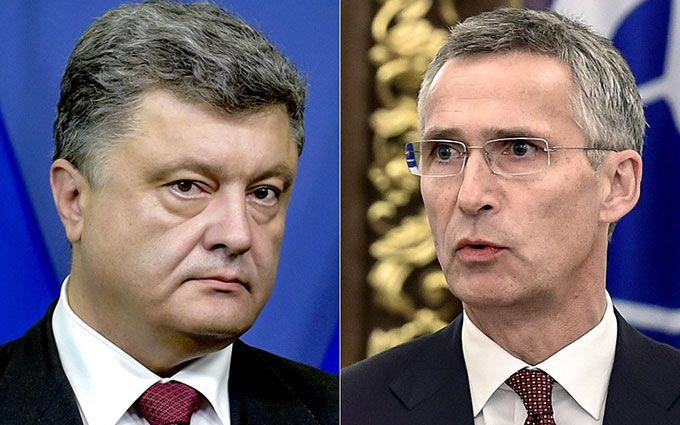 Порошенко поговорив із генсеком НАТО про Донбас: з'явилися подробиці