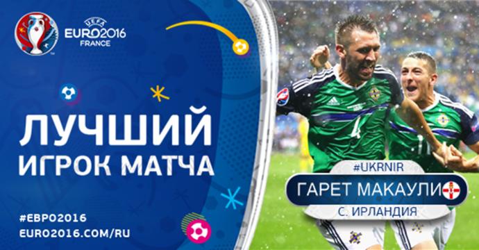 Украина - Северная Ирландия - 0-2: хронология матча Евро-2016 (1)