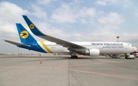 В аэропорту Запорожья самолет МАУ был поврежден в результате приземления на незастывший бетон