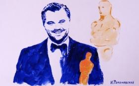 Художница нарисовала портрет Леонардо ДиКаприо грудью