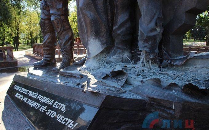 З'явилися ті, хто взяв на себе відповідальність за підрив пам'ятника бойовикам ЛНР