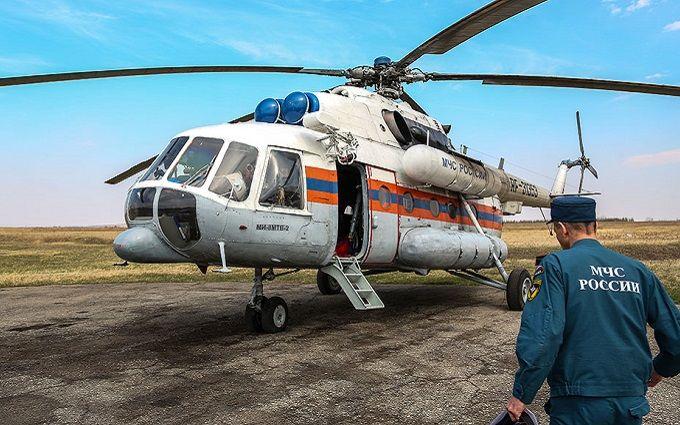 Під Москвою впав вертоліт МНС: в мережі з'явилося відео