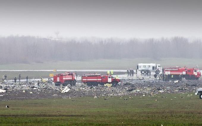 Появилось видео с места падения Boeing в Ростове