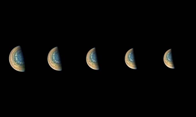 NASA показало новые снимки с южного полюса Юпитера (1)