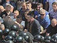 Столкновения под Радой: МВД допросит Тягнибока