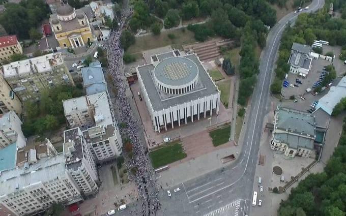 В Киеве празднуют День крещения Киевской Руси: появились фото с высоты птичьего полета (4)