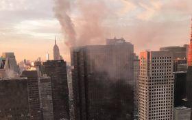 В Нью-Йорке загорелся небоскреб Трампа: опубликовано видео