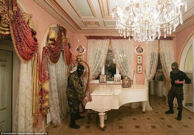 На Западе появились впечатляющие фото разграбленного дворца Пшонки (11)