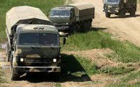 Караван вантажівок: опубліковано відео незаконного в'їзду конвою з РФ на Донбас