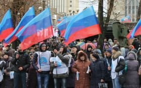 Нелепый митинг в оккупированном Луганске вызвал хохот в сети: опубликованы фото