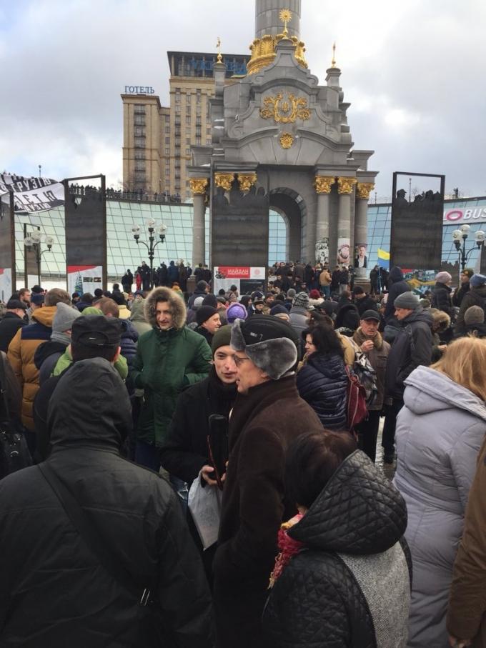 """Кофе на Крещатике"": появились фото и видео акции в центре Киева (4)"