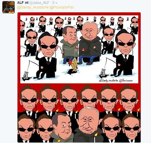 Особенности национальной рыбалки: позор с путинскими фото высмеяли карикатурой (3)