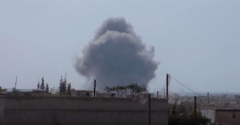 У Мережі з'явилося відео другої хвилі бомбардувань військ РФ по Сирії (відео)