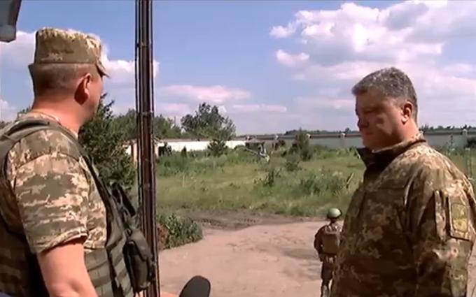 Порошенко показав нове відео з фронту і зробив заяву щодо мобілізації