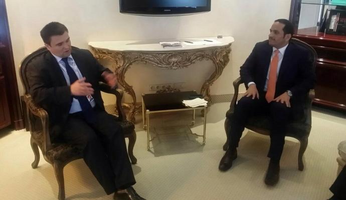 Главы МИД Украины и Катара обсудили двусторонние отношения