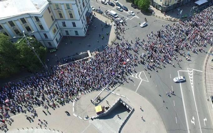 В Киеве празднуют День крещения Киевской Руси: появились фото с высоты птичьего полета (5)