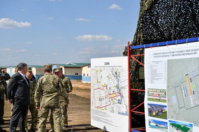 Лучше, чем в странах НАТО: Порошенко показал новый военный полигон в Украине (1)