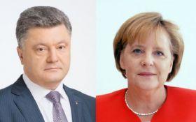 Меркель провела переговоры с Порошенко после встречи с Путиным