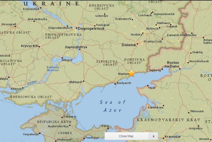 Возле Мариуполя произошло землетрясение (1)