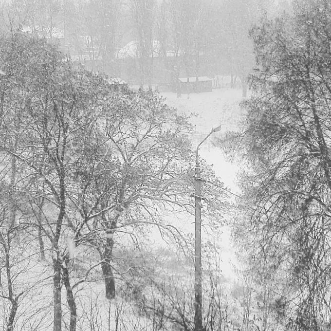 Киев накрыл мощный снегопад, на дорогах коллапс: первые яркие фото и видео (5)