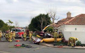 Падение вертолета на жилой дом в Калифорнии: опубликовано видео