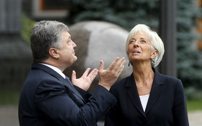 Транш МВФ: Порошенко і Лагард провели важливу розмову