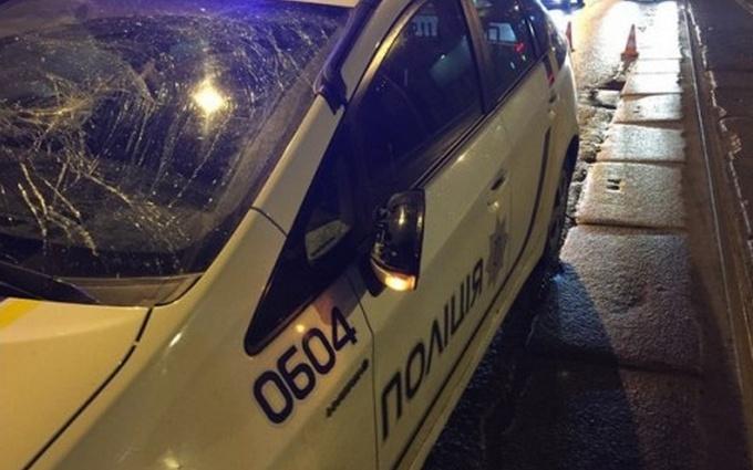 В Харькове машина патрульной полиции сбила пешехода: опубликованы фото
