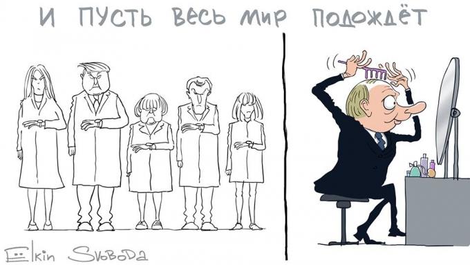 И пусть весь мир подождет: Путина в Париже высмеяли в серии едких карикатур (1)