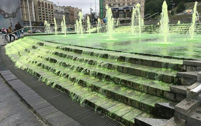 """У Києві """"зелені хулігани"""" сильно познущалися над фонтанами: з'явилися відео"""
