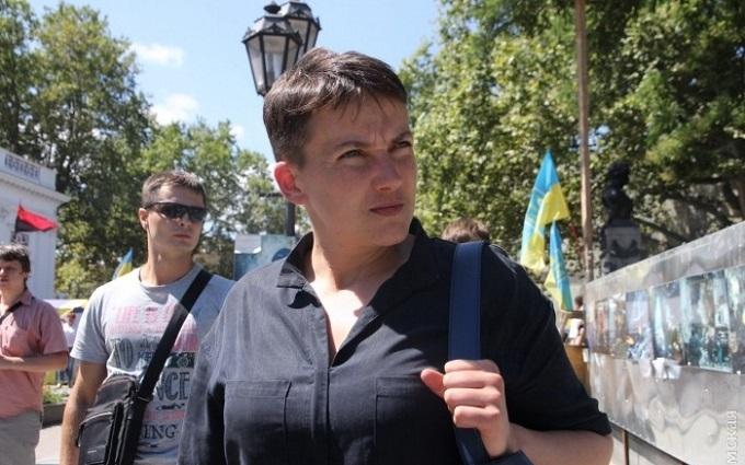 В Савченко в Одесі кинули яйця: опубліковані фото